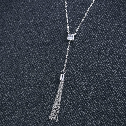 Lantisor argint 925 cristal zirconiu patrat