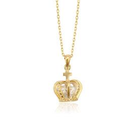 Lantisor elegant dama coroana placat aur
