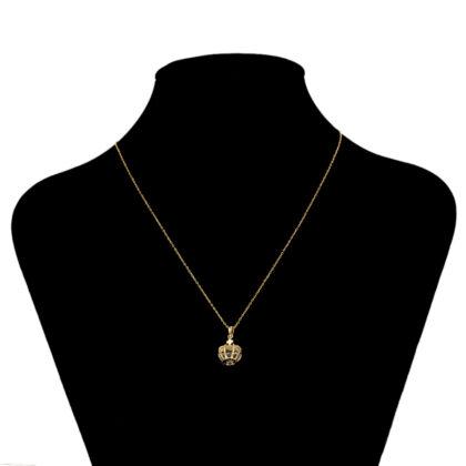 Lantisor elegant dama coroana placat aur model