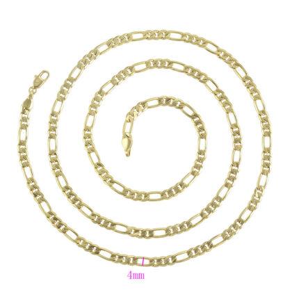 Lantisor lung unisex placat aur 24K grosime