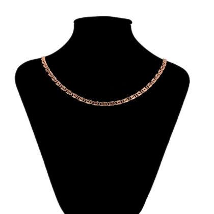 Lantisor model deosebit placat aur roze bust