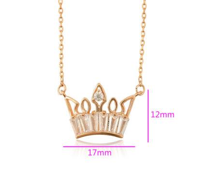 Lantisor placat aur pandantiv coroana dimensiuni