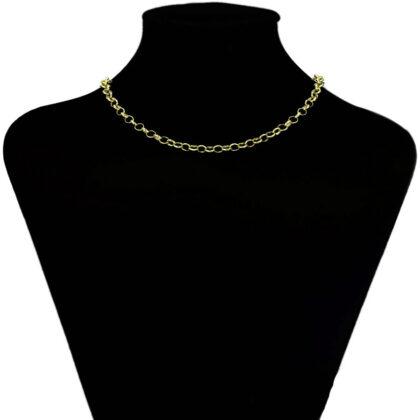Lantisor unisex placat aur 24K model