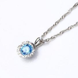 Lantisor zirconiu albastru argint 925