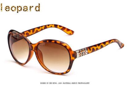 Ochelari de soare cu rama leopard print Sunglasses