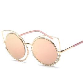 Ochelari de soare dama cat eyes lentile roz