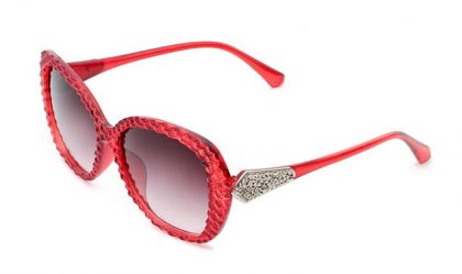 Ochelari de soare rame rosii cu cristale