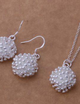 Set argint colier si cercei sfera Sara