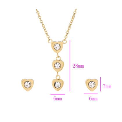 Set colier si cercei cristale placate aur detalii