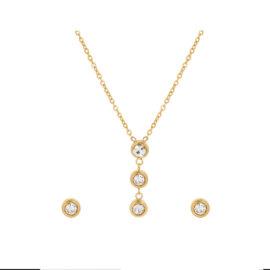 Set elegant cristale placat aur 24K