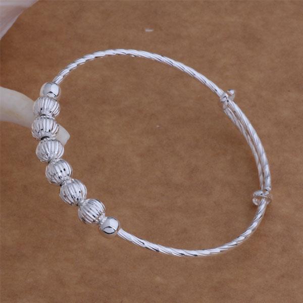 Bratara argint sferica ajustabila Sara