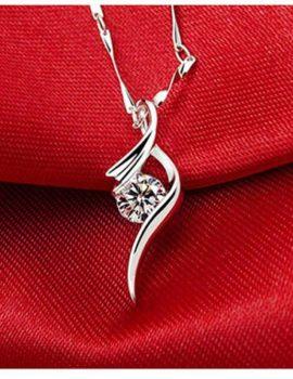 Colier argint 925 cristal zirconiu mov