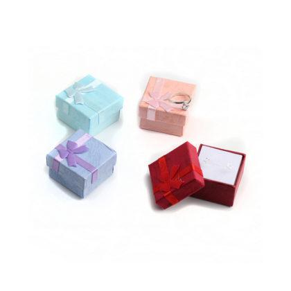 Cutie de bijuterii pentru cadou rosie cadru