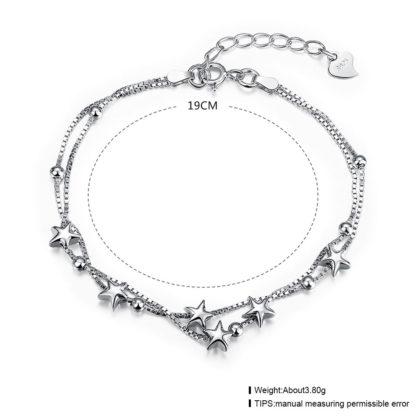 Bratara argint 925, cu stelute placat platina dimensiune