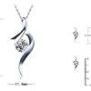Colier argint 925 cristal zirconiu dimensiuni