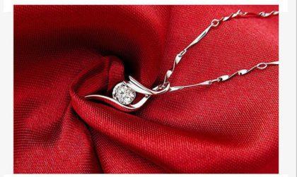 Colier argint 925 cristal zirconiu profil