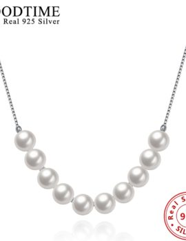 Colier argint 925 cu perle albe