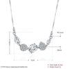 Colier argint 925 elegant cristale zirconiu dimensiuni