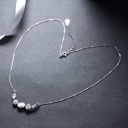 Colier argint 925 elegant cristale zirconiu sus