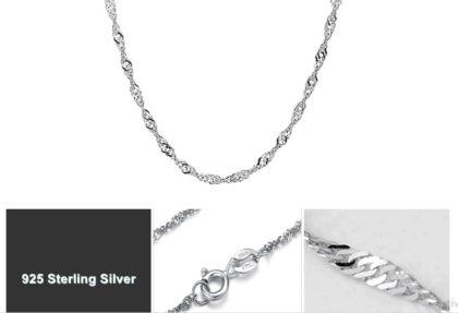 Colier argint 925 water-wave profil