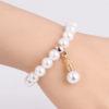 Bratara handmade cu imitatie perle albe model