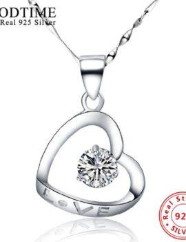 Colier argint 925 inimioara cu cristal Love