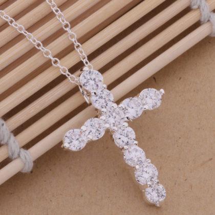 Colier argint cu pandantiv cruciulita profil