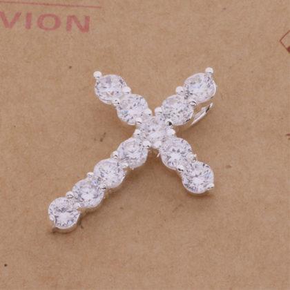 Colier argint cu pandantiv cruciulita sus