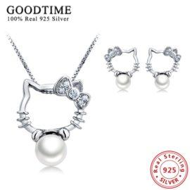 Set argint 925 colier si cercei cu perle naturale