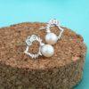 Set argint 925 colier si cercei cu perle naturale cercei