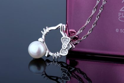Set argint 925 colier si cercei cu perle naturale pandantiv