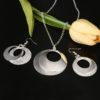 Set elegant argint colier cu cercei sfere
