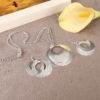 Set elegant argint colier cu cercei sfere profil