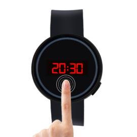 Ceas de mana unisex touch screen negru