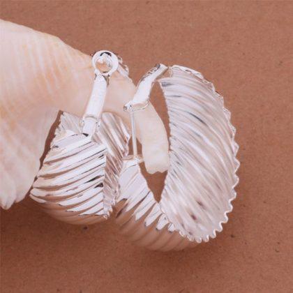 Cercei eleganti ondulati argint fata