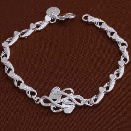 Bratara eleganta argint inimioare Eighty-seven