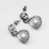 Cercei eleganti cu perla si cristale sus