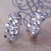 Cercei mici argint cu floricele si cristale