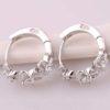 Cercei mici argint cu floricele si cristale profil