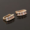 Cercei mici placati aur cristale zirconiu