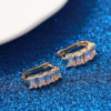 Cercei mici placati aur cristale zirconiu profil
