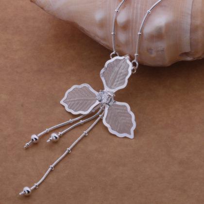 Colier pandantiv floare argint Eighty-seven fata