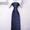 Cravata barbati albastra cu buline albe