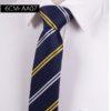 Cravata barbati albastra dungi albe-galbene