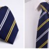 Cravata barbati albastra dungi albe-galbene fata