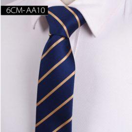 Cravata barbati albastra dungi aurii