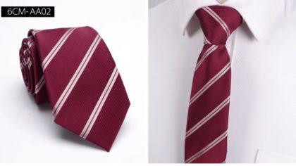 Cravata barbati bordo cu dungi oblice fata