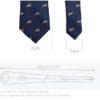 Cravata barbati eleganta animal print dimensiuni