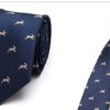 Cravata barbati eleganta animal print fata