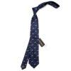 Cravata barbati eleganta animal print sus
